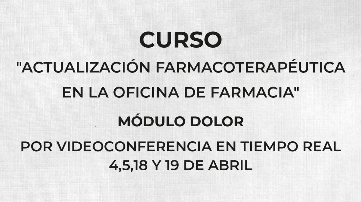 Curso ACTUALIZACIÓN FARMACOTERAPEUTICA EN LA OFICINA DE FARMACIA