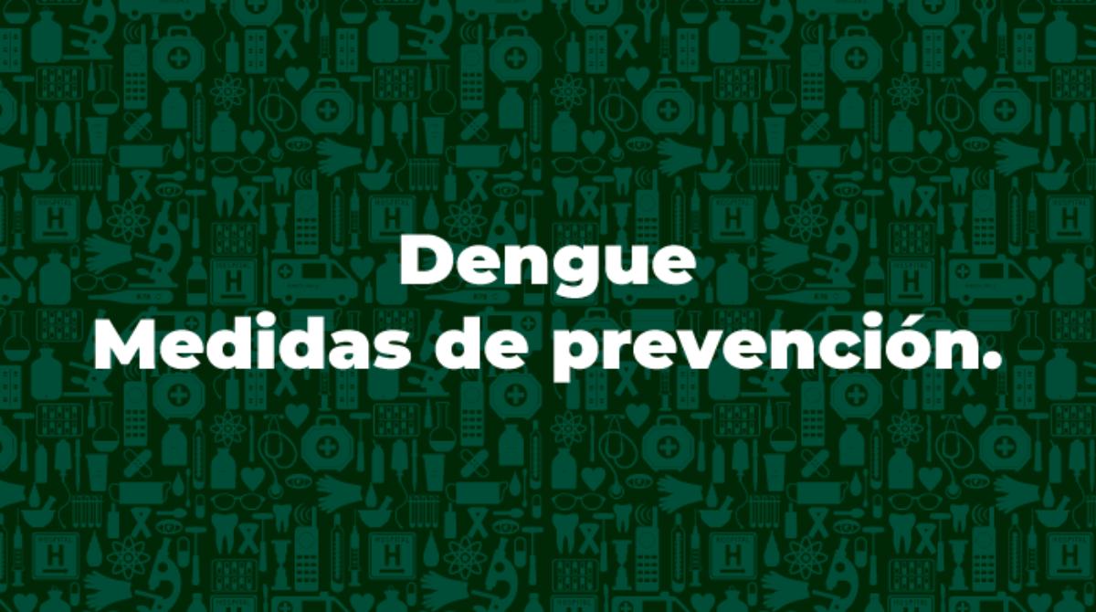 Dengue, Medidas de prevención